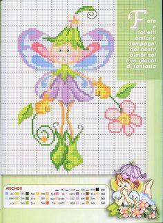 fata farfalla simpatica (3) - magiedifilo.it punto croce uncinetto schemi gratis hobby creativi