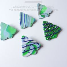 """Add a little Christmas fun with these brooches!  This handmade brooch is made from polymer clay and hand painted with acrylic paint.  It will look great with many types and colours of clothing.     DESCRIPTION: It is approximate 1 3/4"""" by 1 3/4"""" x 3/4"""" inch and weighs 4 to 6  grams.    Each one is individually handmade so they will each be unique. Materials: Polymer clay, acrylic paint, and a brooch pin.  Click the photo that is linked to my website for more information.  Price is under…"""