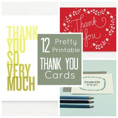 12 Pretty Printable Thank You Cards | Babble