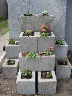 Garden / DIY: Cinder Block Garden Planter - CotCozy
