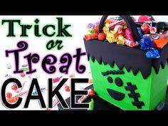 Halloween FRANKENSTEIN Trick or Treat Bag CAKE - CakeCentral.com
