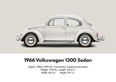 white vw beetle side profile - Google Search