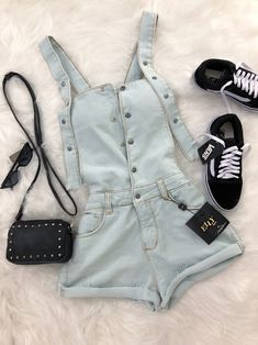 Outfits For Teens, Trendy Outfits, Cool Outfits, Summer Outfits, Teen Fashion, Korean Fashion, Fashion Outfits, Womens Fashion, Vans Outfit