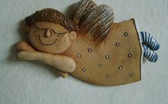 Andělíček Christmas Clay, Xmas, Ceramic Pottery, Ceramic Art, Ceramic Angels, Play Clay, Art For Kids, Diy And Crafts, Projects To Try