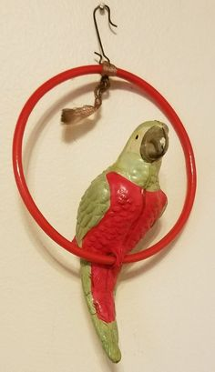 Antique VTG 1920's Celluloid Parrot Perched On Ring Christmas Tree Ornament NICE | Collectibles, Holiday & Seasonal, Christmas: Vintage (Pre-1946) | eBay!
