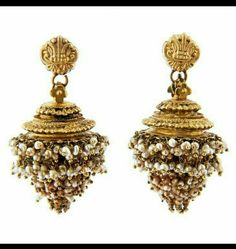 Gold ear pendants, GINTLI, India, Andhra Pradesh, ca A pair of gold ear… Bridal Jewelry, Gold Jewelry, Jewelery, Gold Necklaces, India Jewelry, Temple Jewellery, Antique Earrings, Antique Jewelry, Dangle Earrings