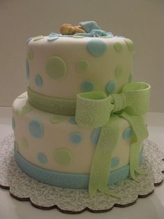 BUTTER CREAM BABYSHOWWER CAKES | Chocolate cake with butter cream icing and pure white fondant ...