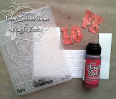 Good idea - cut out embossed words!  SATURDAY STEP X STEP, ALTERED HEARTSHAPED BOX