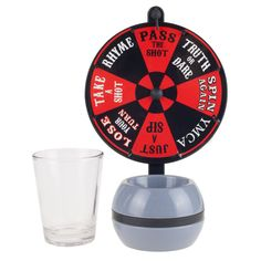 Spin the Wheel Shot Drinking Game - Fun Adult Party College Shot Glass Spinner Game by Hey! (Spin-the-Wheel Shot Glass Drinking Game), Black Shot Drinking Games, Cocktail Bitters, Cocktail Ingredients, College Parties, Drink Dispenser, Tabletop Games, Bar Signs, Shot Glasses, Shopping Hacks