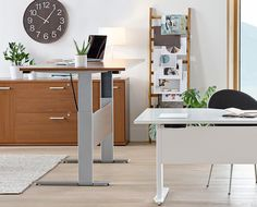 The Network Plus Sit/Stand Desk from Dania Furniture Co. - Modernize your work space with the Network Plus sit/stand, height adjustable desk.