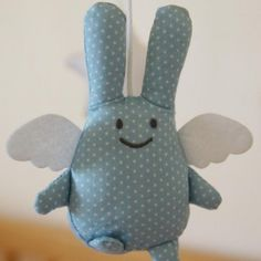 Mobile ange lapin Pois Plume