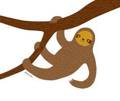 happy sloth (by ennaland)