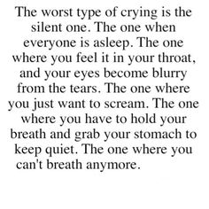 The one where you can't breathe anymore.