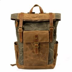 Men Vintage Canvas Casual Travel Large Capacity Waterproof Commuter Bag  Backpack is high-quality. Shop on NewChic and buy the best mens backpack  for ... b51d9e132efe5