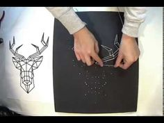 DIY String Art: White Deer - YouTube