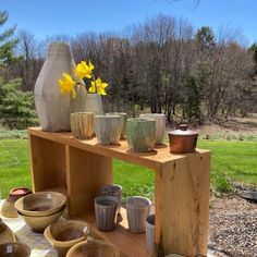 """Jeffrey Lipton on Instagram: """"It's a beautiful day for the #mainepotterytour ! Lots of salt glazed AND earthenware pots! Stop by the studio at 1508 Richmond Rd. in…"""" Craft Show Booths, Lipton, Earthenware, Beautiful Day, Glaze, Pots, Salt, Pottery, Photo And Video"""