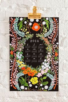 2015 Language of Flowers wall calendar by HouseThatLarsBuilt Creative Calendar, Diy Calendar, Graphic Design Posters, Modern Graphic Design, Kalender Design, Book Design Layout, Design Design, Language Of Flowers, Magazine Cover Design