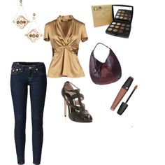 """""""Gold and Godiva"""" by rachael-phillips on Polyvore"""