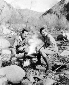 Cinematographer George Barnes and his wife Joan Blondell enjoying the great outdoors.