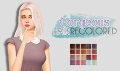 Whoohoosimblr: Gorgeous Hair recolored - Sims 4 Hairs - http://sims4hairs.com/whoohoosimblr-gorgeous-hair-recolored/