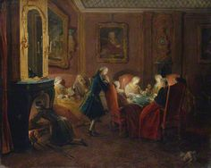 Interior with Card Players, about 1752, Pierre-Louis Dumesnil, Oil on canvas. The Metropolitan Museum of Art