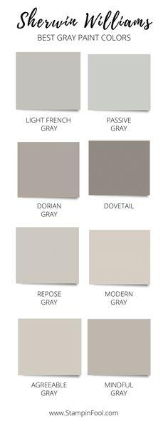 Neutral Gray Paint, Best Gray Paint Color, Greige Paint Colors, Gray Painted Walls, Wall Paint Colors, Interior Paint Colors, Paint Colors For Living Room, Paint Colors For Home, Best Neutral Paint Colors