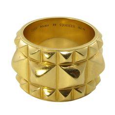 HERMES Gold Medor Ring