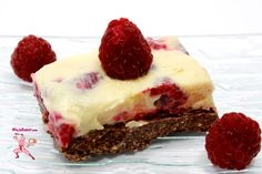 Atop a crust of crushed Pocky lies a treasure trove of raspberry and Japanese yuzu citrus cream...    Easy Peasy Recipe for No-Bake Raspberry and Japanese Yuzu Citrus Bars at Ninja Baking.com  #Pocky #JapaneseFood #NoBakeDesserts