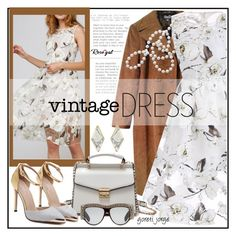 """""""Vintage Dress - Rosegal Contest"""" by goreti ❤ liked on Polyvore featuring Dolce&Gabbana, Gucci, vintage and rosegal"""