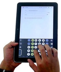 New Keyboard Layout easy as ABC --John Lambie's keyboard in use on a tablet.