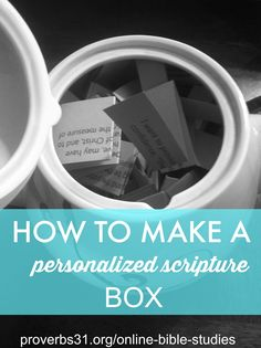 How To Make A Scripture Personalized Box | P31 Online Bible Studies