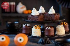 Gespenster-Brownie-Kuchen, #Halloween, #cake, #Geister, #ghost