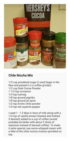 Chile Mocha Mix I loved the sound of Starbucks' newest drink, but unfortunately can't have it due to dietary restrictions. So I decided to make my own.