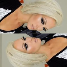 Blonde hair and makeup