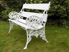 Lovely two seater bench with multiple layers of paint