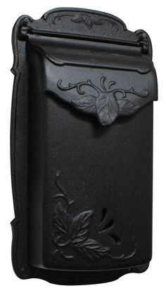 Special Lite Products Floral Design Cast-Aluminum Vertical Mailbox in Matte Black Old Mailbox, Vintage Mailbox, Wall Mount Mailbox, Mounted Mailbox, Victorian Mailboxes, Leaf Design, Floral Design, Residential Mailboxes, Door Sets