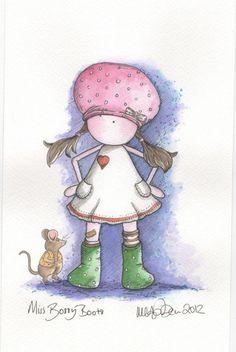 LITTLE MISS BOSSY BOOTS  www.michellecampbellart.blogspot.co.uk