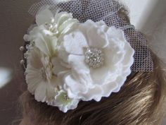 Beautiful Handmade Bridal inspired Flower by Craftswithchrissie, £14.99