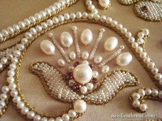 Pearl and gold work Embroidery