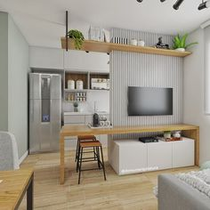 [New] The 10 Best Home Decor Today (with Pictures) Kitchen Room Design, Home Room Design, Modern Kitchen Design, Home Decor Kitchen, Kitchen Interior, House Design, Small Apartment Interior, Small Apartment Design, Studio Apartment Floor Plans