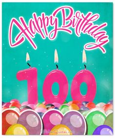 100th Happy Birthday Image