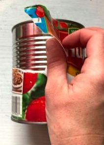 Peel The Label Off An Empty Can To Copy Their Gorgeous Kitchen Idea