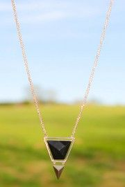 Point Out The Way Necklace-Black
