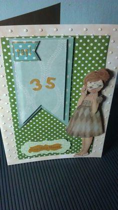Verjaardagkaart voor vriendin.