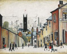Laurence Stephen Lowry, R.A. | Lot | Sotheby's In common with all of Lowry's finest works, The Church in the Hollow holds an exquisite balance between being a view of somewhere in particular, a mill town in the North-West of England such as Wigan, Rochdale, St Helens and, at the same time being a symbolic landscape, which stands as both metonym and metaphor for the urban industrial experience. It is this balance, this thread throughout Lowry's career, that was the central idea behind the…