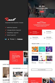 Rmail - Responsive Email Newsletter Template Email Template Design, Web Design Software, Email Templates, Newsletter Templates, Classroom Newsletter Template, Campaign Monitor, Responsive Email, Architecture Quotes, Email Newsletters