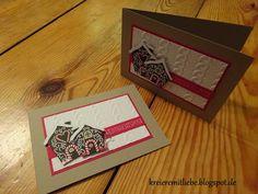 Weihnachtskarte # 1 | DSP: Zuckerstangenzauber | Tiefenprägeform: Zopfmuster ~ Kreiere mit Liebe - Stempeln, Stanzen, Prägen und Co.