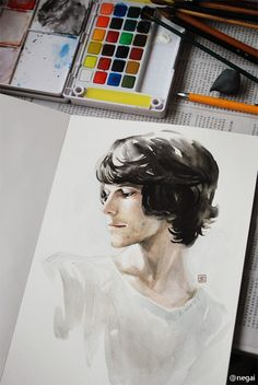 Ben Whishaw fan art  By negai~
