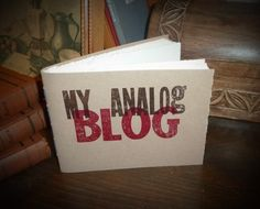 My Analog Blog  woodblock letterpress notebook by MyHandboundBooks, $12.00