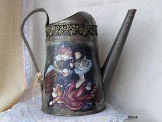 Лейка «вельможные кошки» http://dcpg.ru/blogs/3501/ Click on photo to see more! Нажмите на фото чтобы увидеть больше! decoupage art craft handmade home decor DIY do it yourself watering can